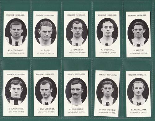 Nostalgia reprints - set of 15 - taddy ' footballers - newcastle united ' cards