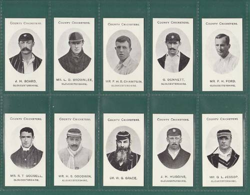 Nostalgia Reprints - Set Of 15 - Taddy ' County Cricketers - Hampshire ' Cards