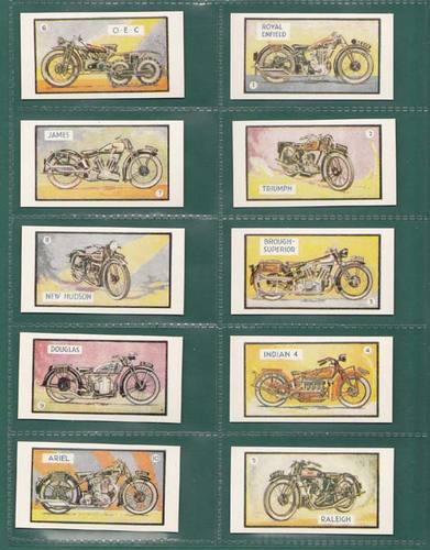 Nostalgia Reprints - Set Of 24 - D. C. Thomson ' Motor Bike Cards '