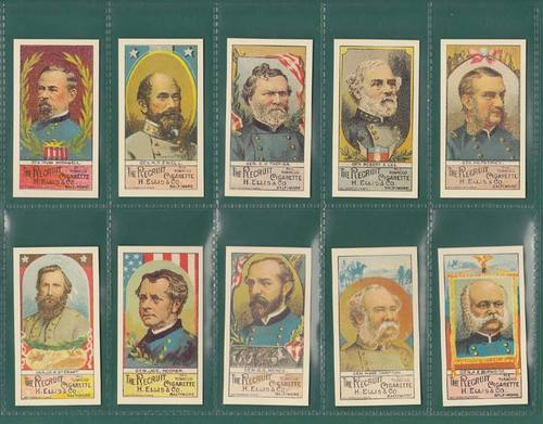 Nostalgia Reprints - Set Of 25 - Ellis (u.s.a.) ' Generals Of Late Civil War '