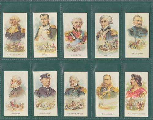 Nostalgia Reprints - Set Of 25 - Kinney Bros. (u.s.a.) ' Leaders ' Cards