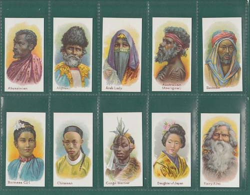 Nostalgia Reprints - Set Of 25 - Taddy ' Natives Of The World ' Cards