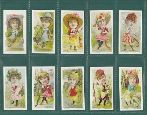 Nostalgia Reprints - Set Of 25 - W. Duke & Sons (u.s.a.) ' Fishers ' Cards