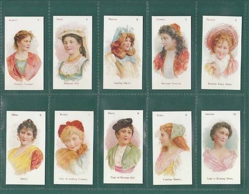 Nostalgia Reprints - Set Of 25 - W.d. & H.o.wills ' National Costumes ' Cards