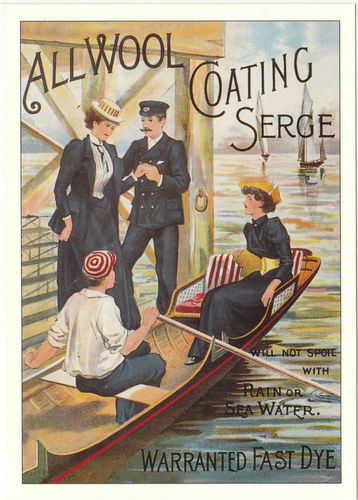 Robert Opie Advertising Postcard - All Wool Coating Serge