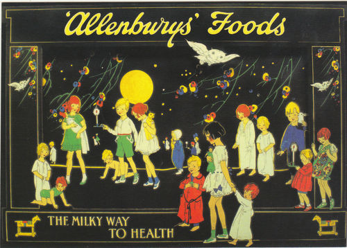Robert Opie Advertising Postcard - Allenburys' Foods