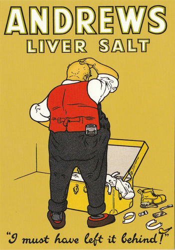 Robert Opie Advertising Postcard - Andrews Liver Salt