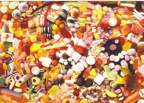Robert Opie Advertising Postcard - Assorted Sweets