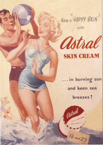 Robert opie advertising postcard - astral skin cream