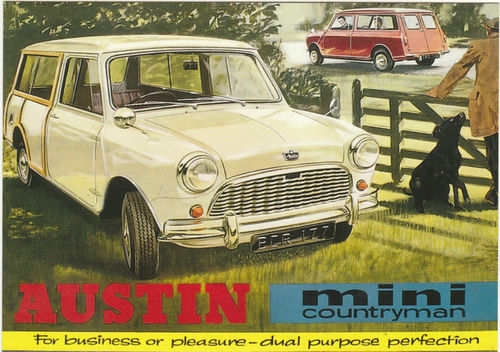 Robert Opie Advertising Postcard - Austin Mini Countryman
