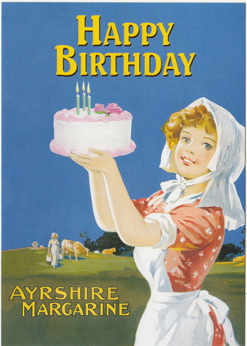 Robert Opie Advertising Postcard - Ayrshire Margarine
