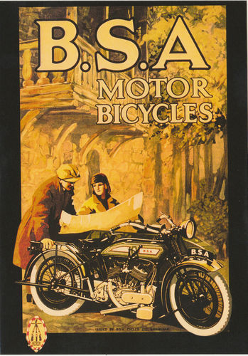 Robert Opie Advertising Postcard - B.s.a. Motor Cycles