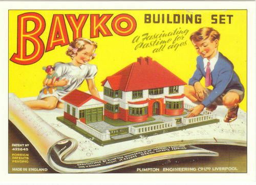 Robert opie advertising postcard - bayko building set