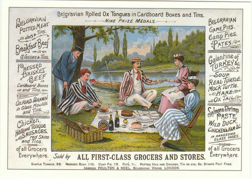 Robert Opie Advertising Postcard - Belgravian Potted Meats