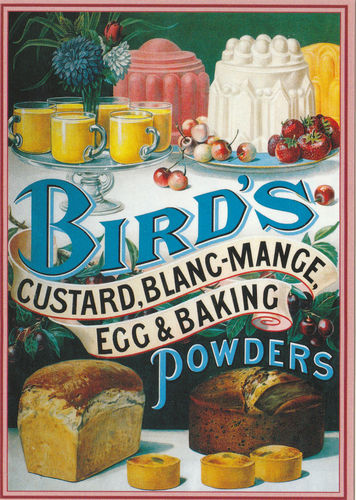 Robert Opie Advertising Postcard - Bird's Custard & Other Powders