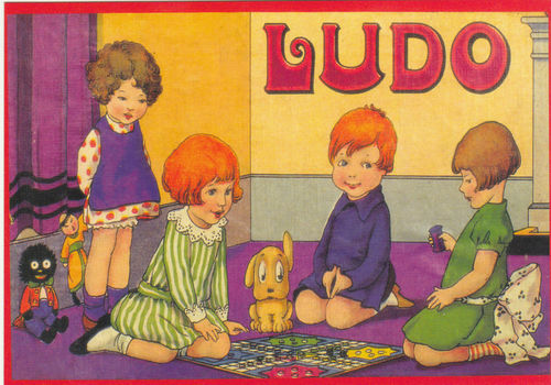 Robert opie advertising postcard - ludo