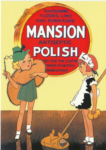 Robert opie advertising postcard - mansion antiseptic polish