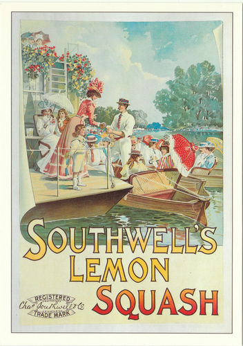 Robert opie advertising postcard - southwell's lemon squash