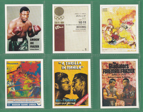 Sporting Profiles - Set Of 20 Large Smokin' Joe Frazier Boxing Cards - 2005