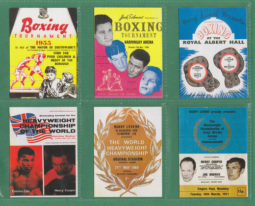 Sporting Profiles - Set Of 40 Large Henry Cooper Boxing Cards - 1997