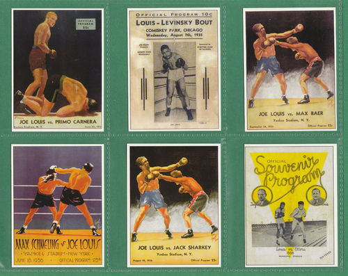 Sporting Profiles - Set Of X 25 Joe Louis Boxing Cards - 2000