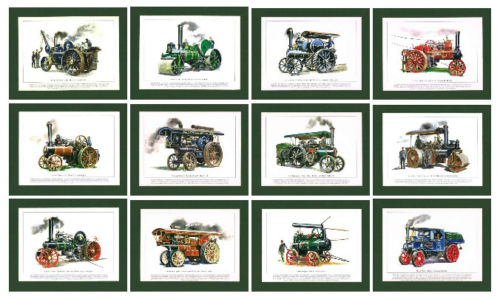 Rogerstock Ltd. - Set Of 12 Unmounted Prints - Steam Traction Engines