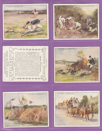 Set Of L 25 - John Player & Sons - Country Sports - 1930