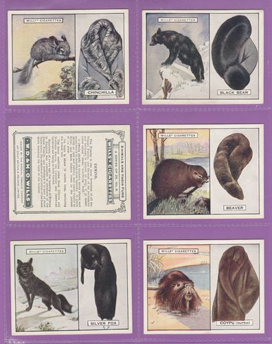 Set Of L 25 - W. D. & H. O. Wills Ltd. - Animals & Their Furs - 1929