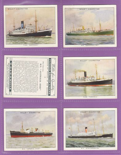 W. D. & H. O. Wills Ltd. - Set Of L 25 - Famous British Liners 2nd Series - 1935