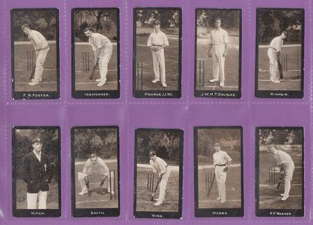 F. & J. Smith - Set Of 50 - Cricketers ( 1 - 50 ) - 1912