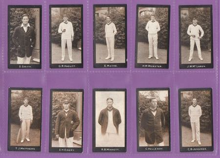 F. & J. Smith - Set Of 20 - Cricketers, 2nd Series ( 51 - 70 ) - 1912