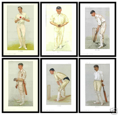 Trade Package - 10 Sets Of Vanity Fair Prints - 6 Fantastic Cricketers