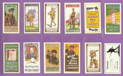 Victoria gallery - set of 12 wills ' recruiting posters ' cards