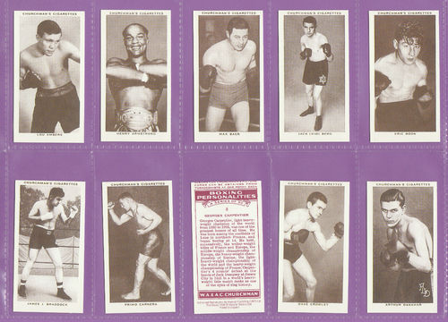 Victoria Gallery - Set Of 50 Churchman ' Boxing Personalities ' Cards