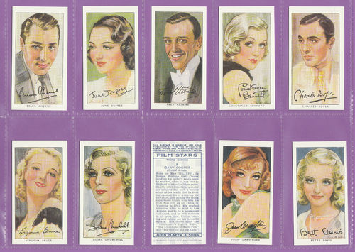 Victoria Gallery - Set Of 50 Players ' Film Stars, 3rd Series ' Cards