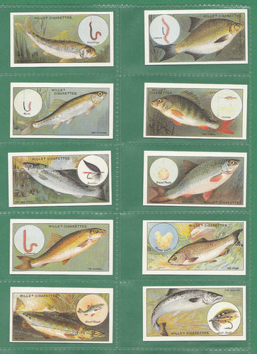 Victoria Gallery - Set Of 50 Wills ' Fish & Bait ' Cards