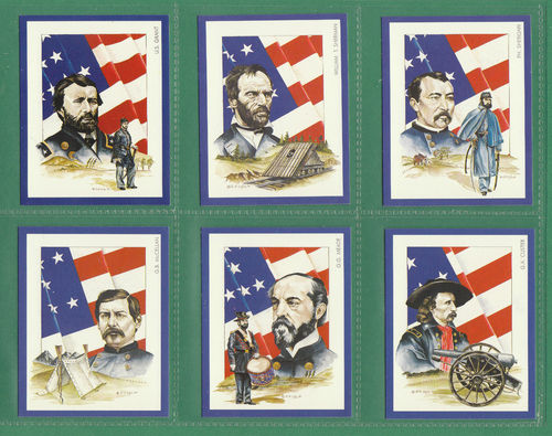 Victoria Gallery - Set Of L 20 American Civil War Leaders Cards - 1992