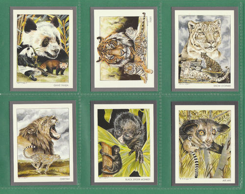Victoria Gallery - Set Of L 20 Endangered Wild Animals Cards - 1991