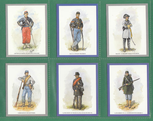Victoria Gallery - Set Of L 20 Uniforms Of The American Civil War Cards - 1992