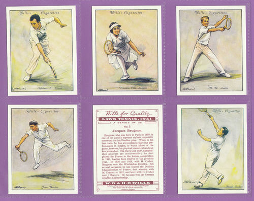 Victoria Gallery - Set Of 25 Large Wills ' Lawn Tennis ' Cards