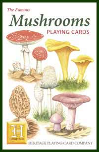 Heritage Playing Card Co. - Boxed Set of Playing Cards + 2 Jokers - Mushrooms