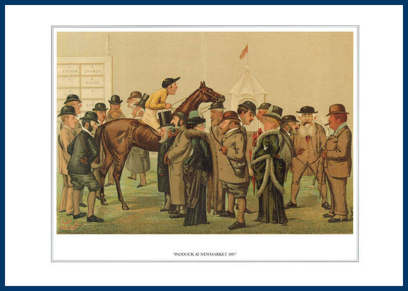 Pack Of 20 Prints - Vanity Fair Reprints - From Our Fantastic Set Of 16 Racehorses - Paddock At Newmarket 1885