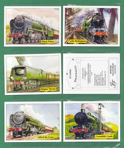 Jf Sporting Collectibles - Set Of Xl 24 Classic Steam Locomotives 1st