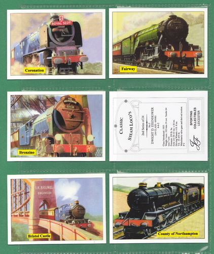 Jf Sporting Collectibles - Set Of Xl 24 Classic Steam Locomotives 2nd